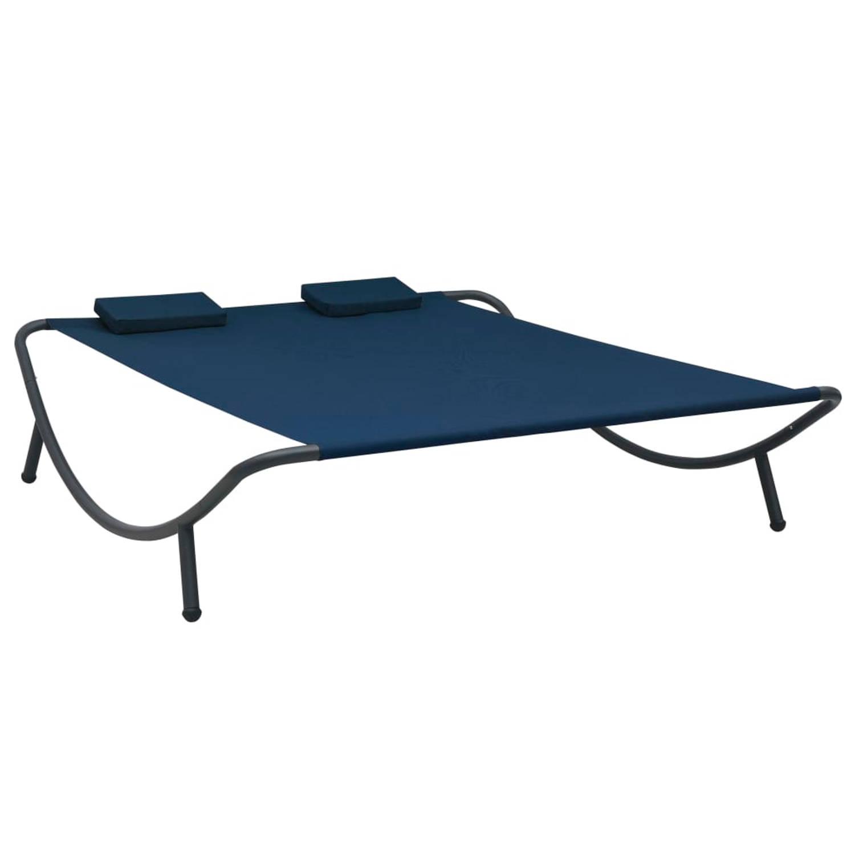 Vidaxl Loungebed Stof Blauw