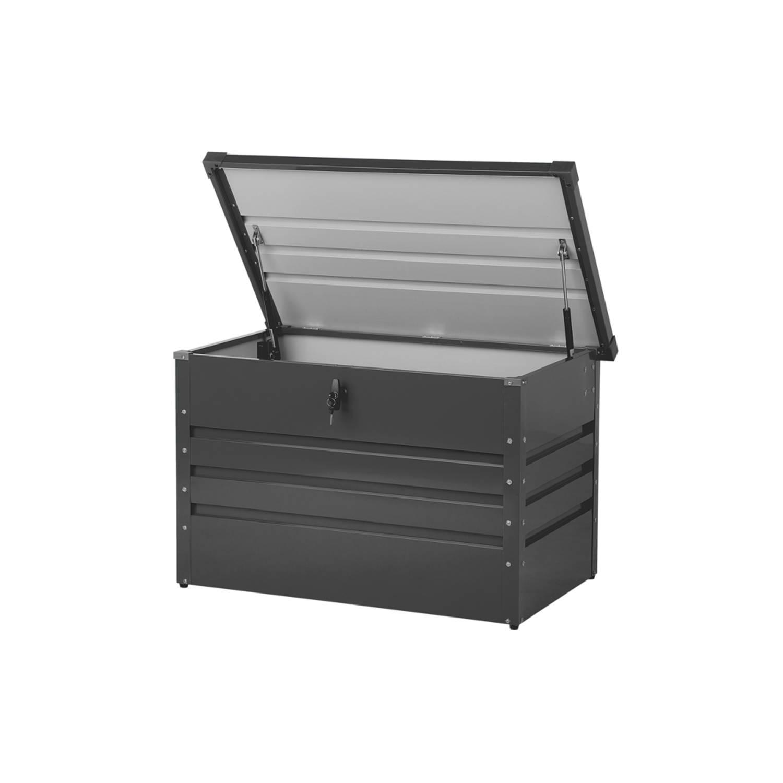Beliani Cebrosa Kussenbox Staal 62 X 100 Cm