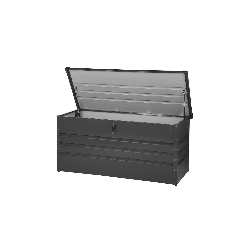 Beliani Cebrosa Kussenbox grijs staal