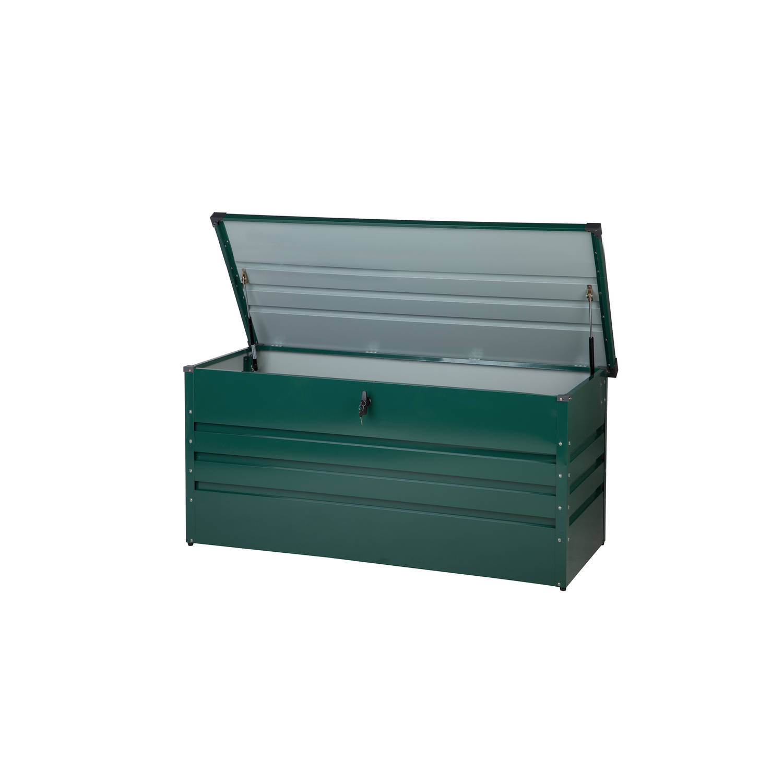Beliani Cebrosa Kussenbox groen staal