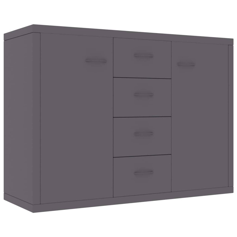 VidaXL Dressoir 88x30x65 Cm Spaanplaat Grijs online kopen
