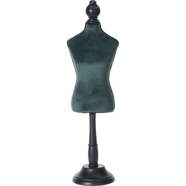 Paspop 46cm velvet groen