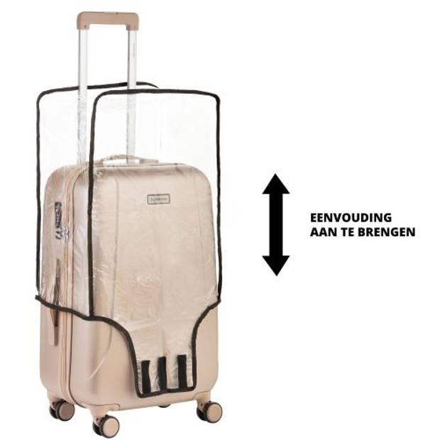 CarryOnKofferhoes-Beschermhoeskoffer-LuggageCoverMedium-Transparant
