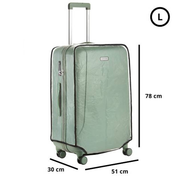 CarryOn Kofferhoes - Beschermhoes koffer - Luggage Cover Large - Transparant