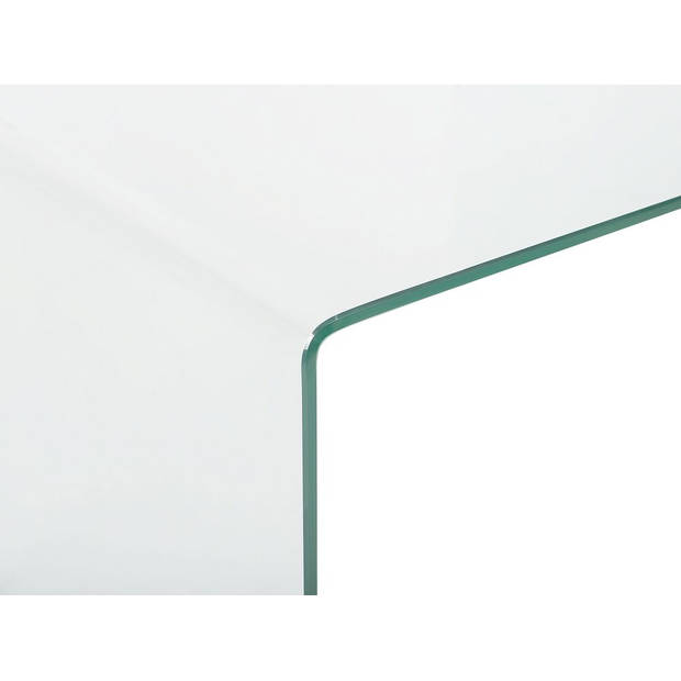 Beliani KENDALL Kaptafel Veiligheidsglas 30 x 90 cm