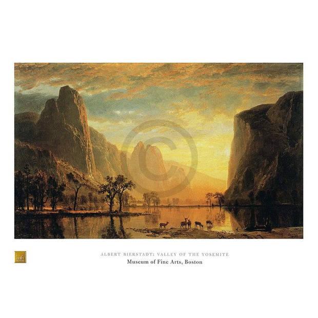 Albert Bierstadt - Valley of the Yosemite Kunstdruk 80x60cm