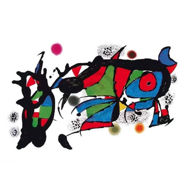 Joan Miro - Obra de Joan Miro Kunstdruk 100x70cm