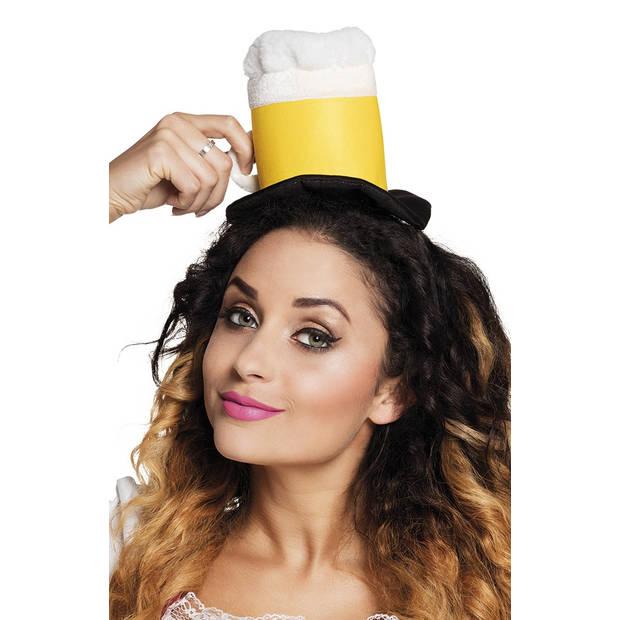 Boland tiara bierpul geel one size