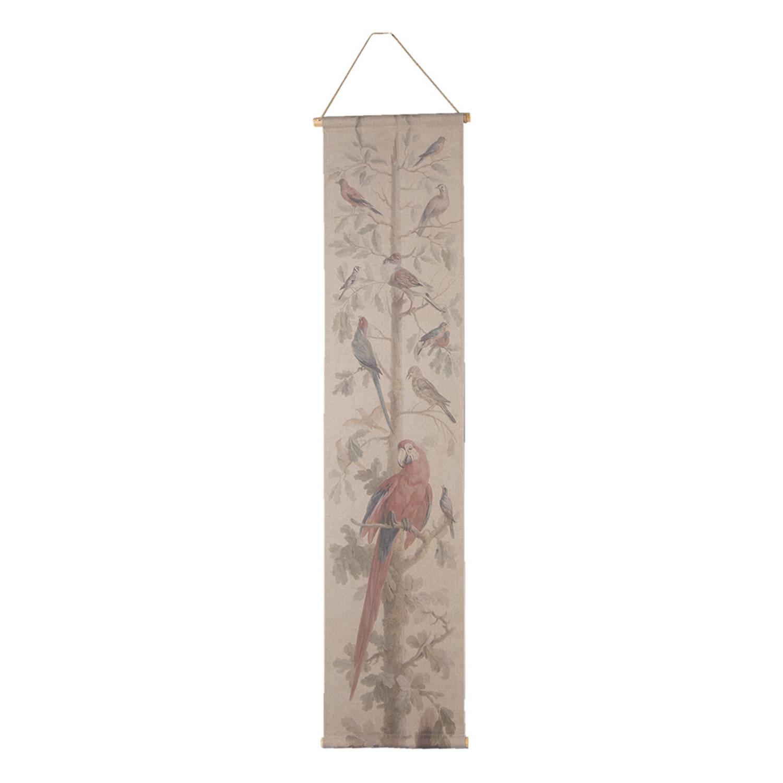 Clayre & Eef Wandkleed 6wk0036 42*2*166 Cm - Meerkleurig Jute Wanddoek