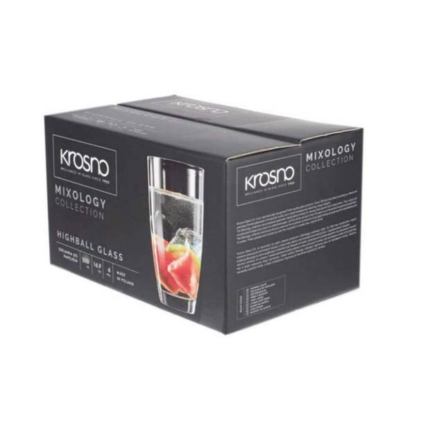 Krosno Mixology Longdrinkglazen - Set van 6 - 500ml