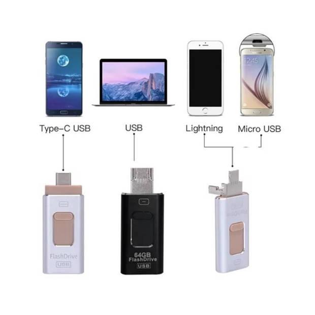 Parya Official - 4-in-1 Flashdrive - USB - 256GB