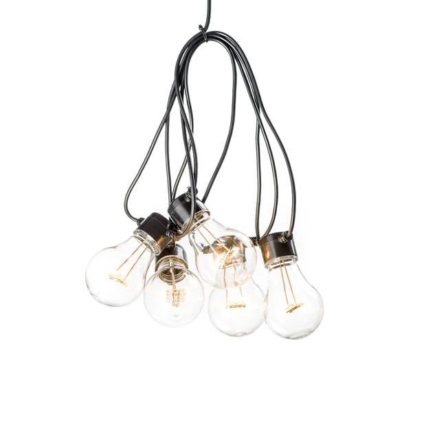 Konstsmide lichtsnoer LED koppelbaar 10 m amber 10 lampjes