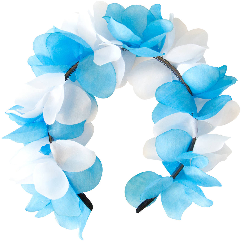 Folat Tiara Bloemen Dames Blauw/wit One-size online kopen