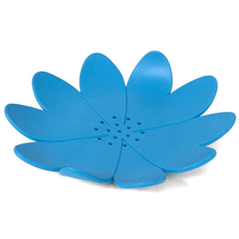 Korting Gerimport Zeephouder Bloem 12 X 2 Cm Rubber Blauw