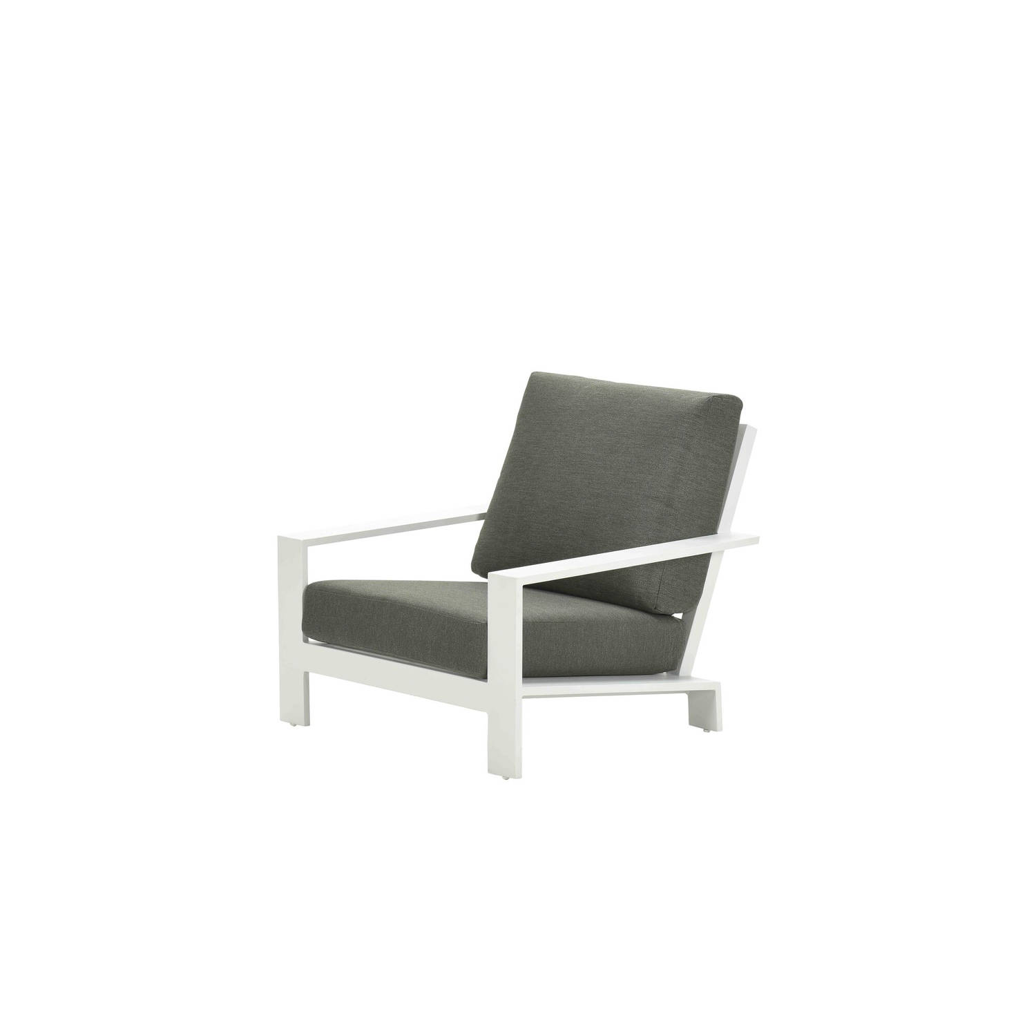 Garden Impressions Lincoln Lounge Fauteuil - Mat Wit/ Moss Green