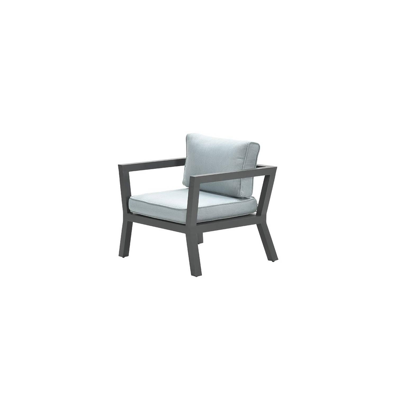 Garden Impressions Colorado Lounge Fauteuil - Carbon Black/ Mint Grey