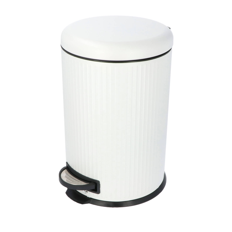 4goodz Pedaalemmer 20 Liter Met Uitneembare Binnen Emmer - Wit