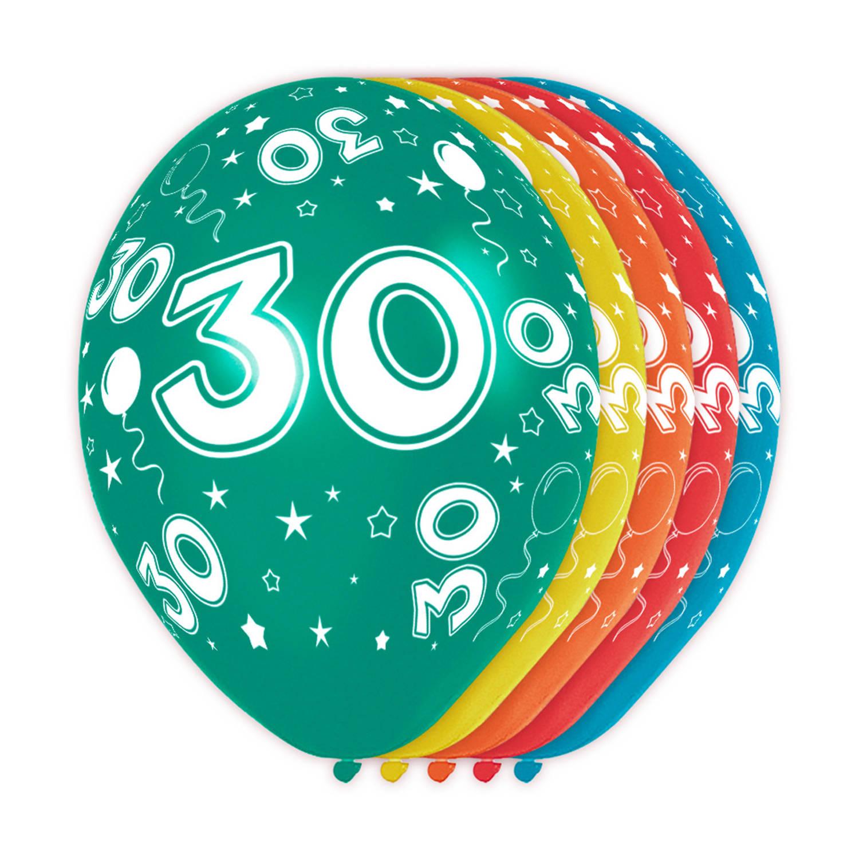 Feestbazaar 30 jaar verjaardag ballonnen (5st) online kopen