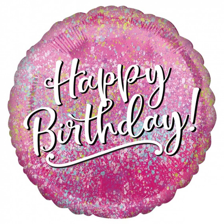 Korting Amscan Folieballon Birthday Pink Fabulous 45 Cm Roze