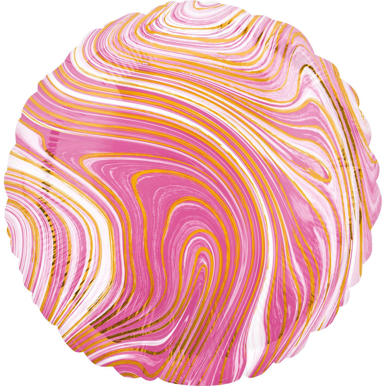 Korting Amscan Folieballon Pink Circle 45 Cm Metallic