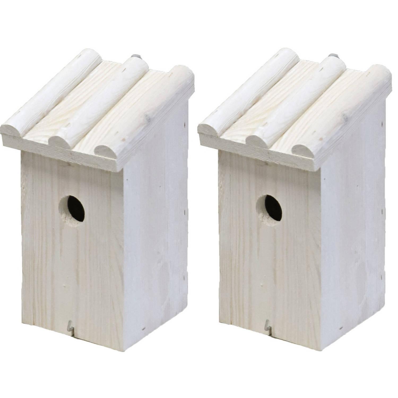 Merkloos Nestkast/vogelhuisje Hout Wit Voor Mezen 14 X 16 X 27 Cm Mezenkasten online kopen