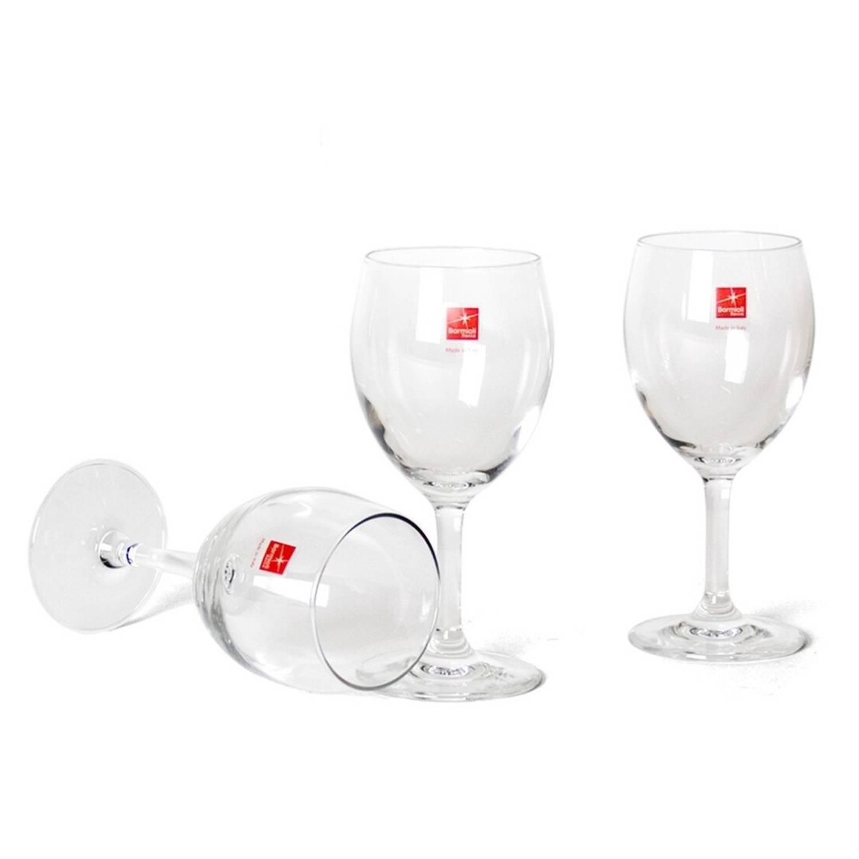 3x Stuks Wijnglazen Transparant 260 Ml - Wijnglas Witte Of Rode Wijn Op Voet