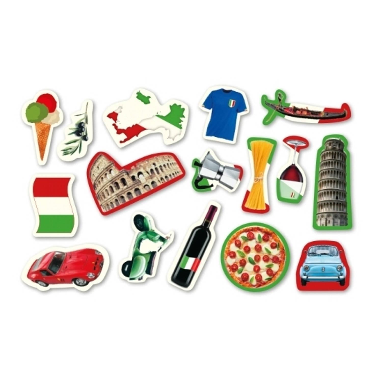 96x Stuks Confetti Italie Thema Tafel Versiering Italiaanse Feestartikelen Blokker