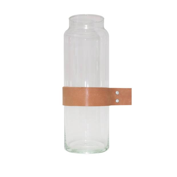 Tak Design karaf Wrap Me 10 x 30 cm glas transparant/bruin
