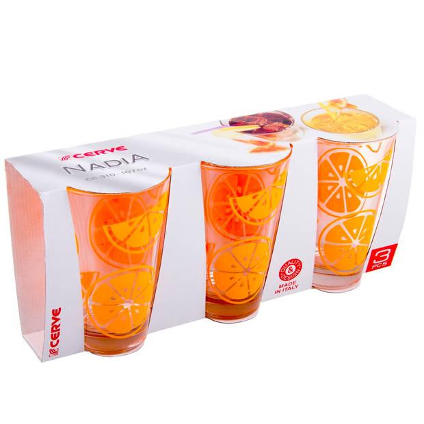 Cerve Gummy Orange longdrinkglas - 31 cl - Set-3