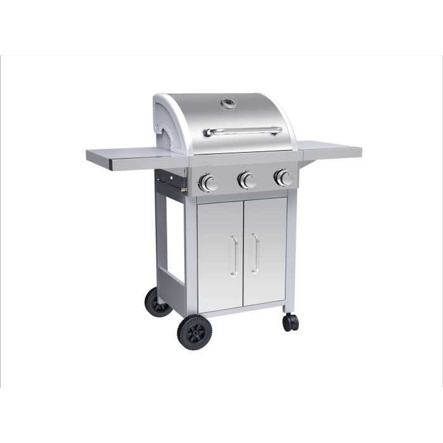 Silver Style Gasbarbecue 3 Branders In Roestvrij Staal - 3000 W