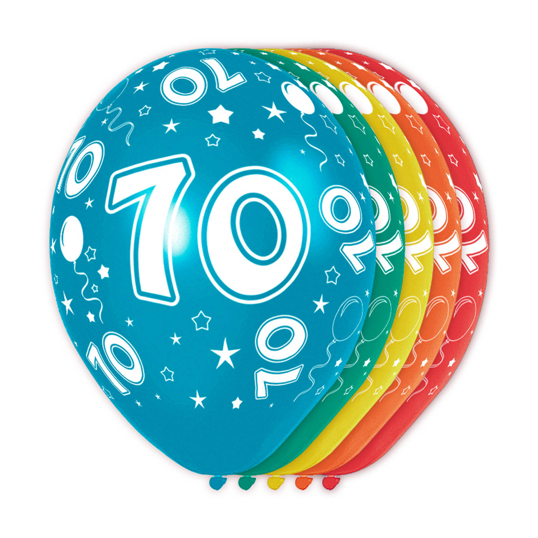 Folat Ballonnen 70 Jaar 30 Cm Latex 5 Stuks online kopen