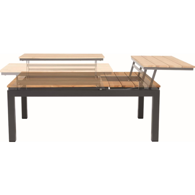 Flip-up Table Teak Top 79 X 120 Cm