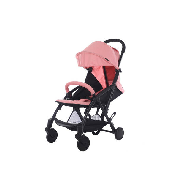 Cabino Buggy Compact Zwart/Roze