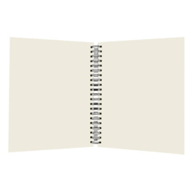 SOHO boek spiraal A4 blanco harde kaft 98 vellen zwart