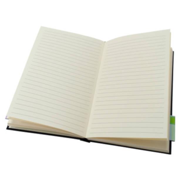 Soho boek A4 lijntjes harde kaft 98 vellen zwart