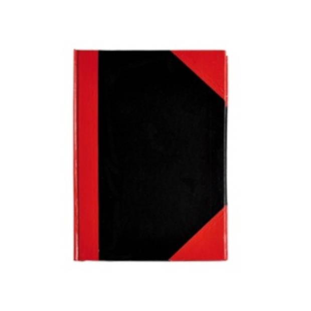 Verhaak notitieboek A7 karton/papier zwart/rood/wit