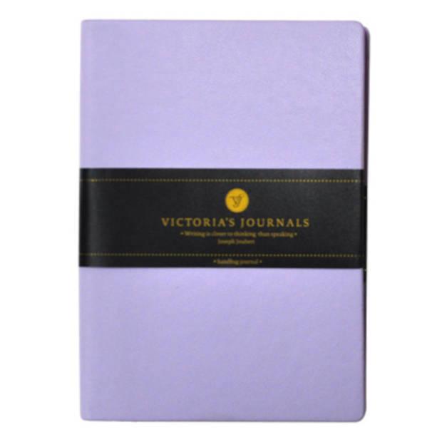 Soho notitieboek gelinieerd A6 papier lila