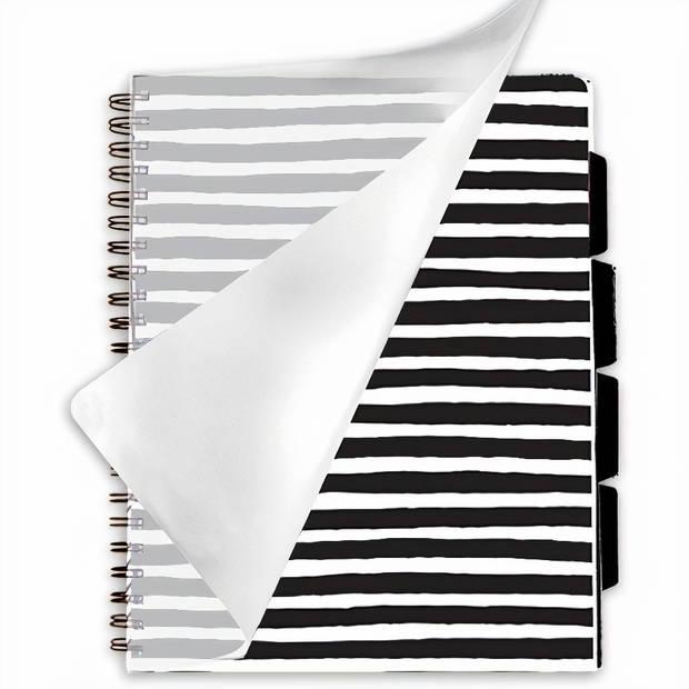 Verhaak projectboek horizonlijnen A4 papier zwart/wit