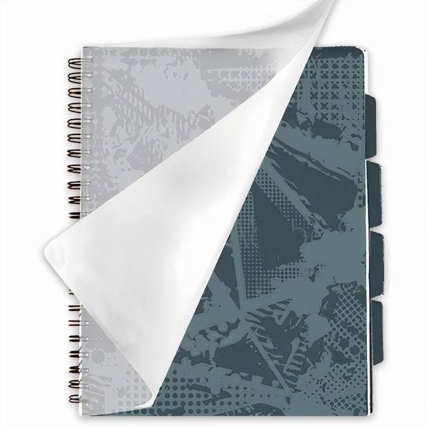Verhaak projectboek textuurpatroon A4 papier blauw/grijs