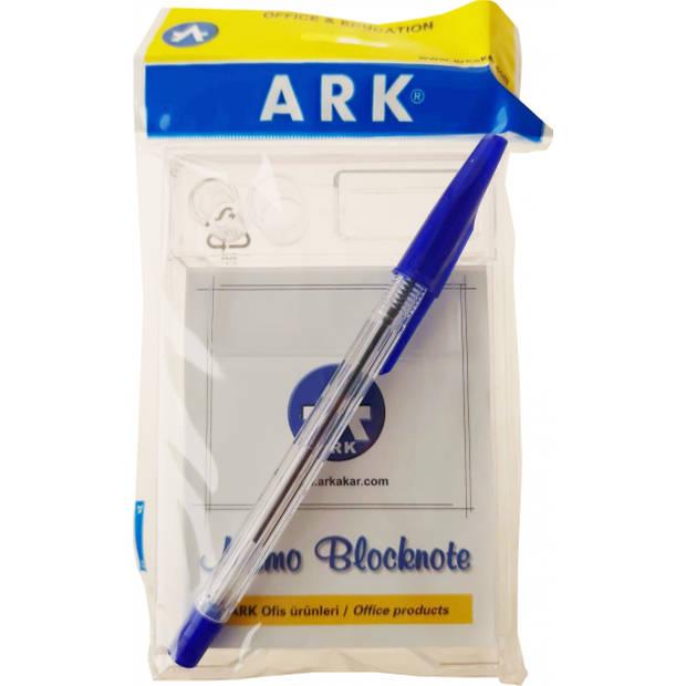 Ark kladblok Memo Blocknote papier wit/blauw 2-delig
