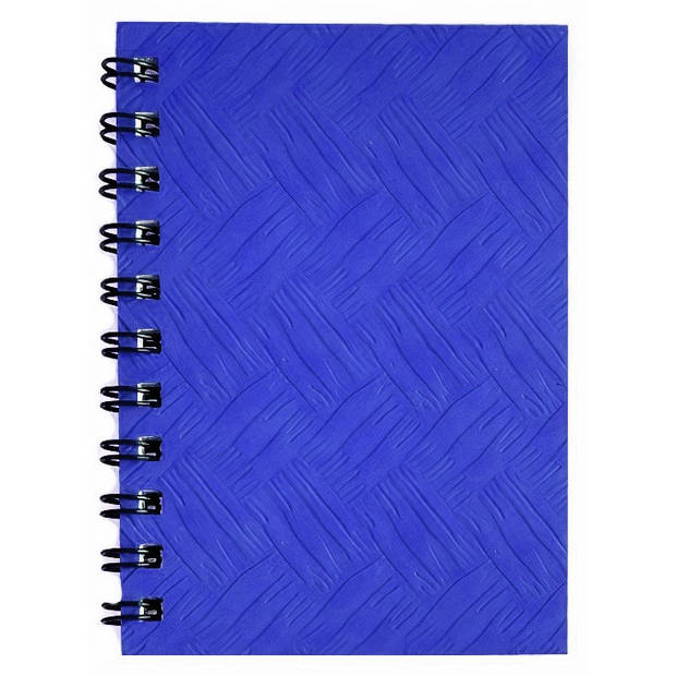 Verhaak notitieboek 14 x 8 cm karton/papier blauw