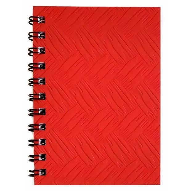 Verhaak notitieboek 10 x 7 cm karton/papier rood
