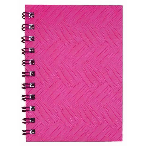 Verhaak notitieboek 10 x 7 cm karton/papier roze