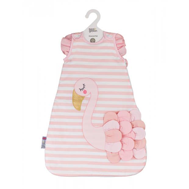 Bizzi Growin trappelzak flamingo meisjes 0-6 maanden katoen roze