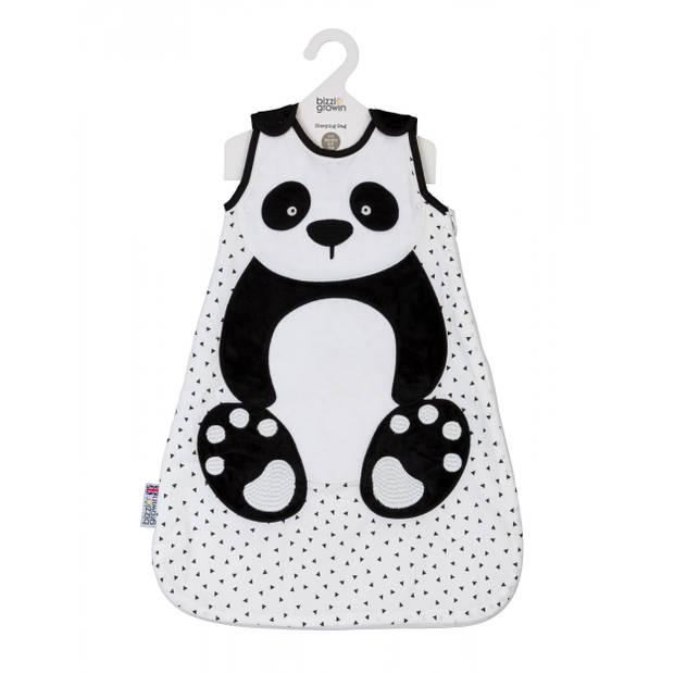 Bizzi Growin trappelzak panda 6-18 maanden katoen zwart/wit