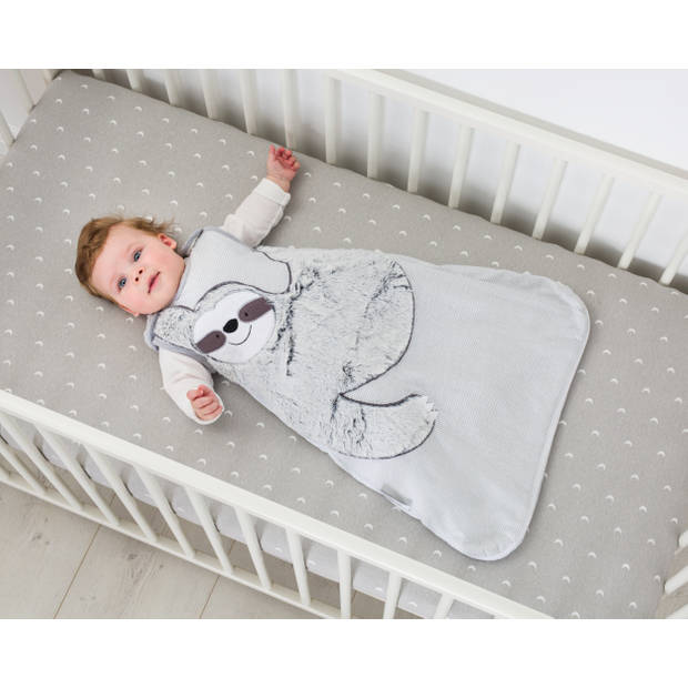 Bizzi Growin trappelzak luiaard junior 6-18 maanden katoen grijs