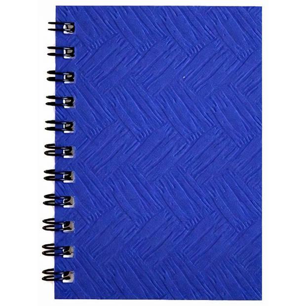 Verhaak notitieboek 10,5 x 16,5 cm karton/papier blauw
