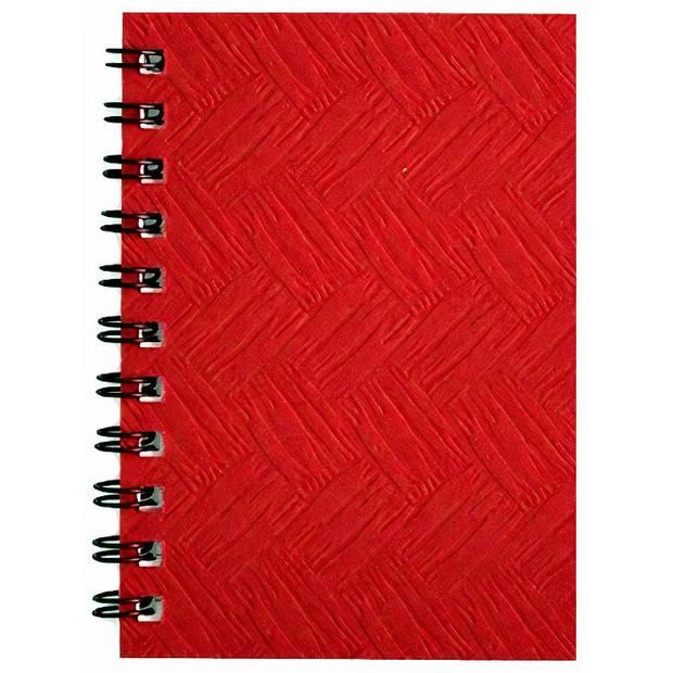 Verhaak notitieboek 10,5 x 16,5 cm karton/papier rood