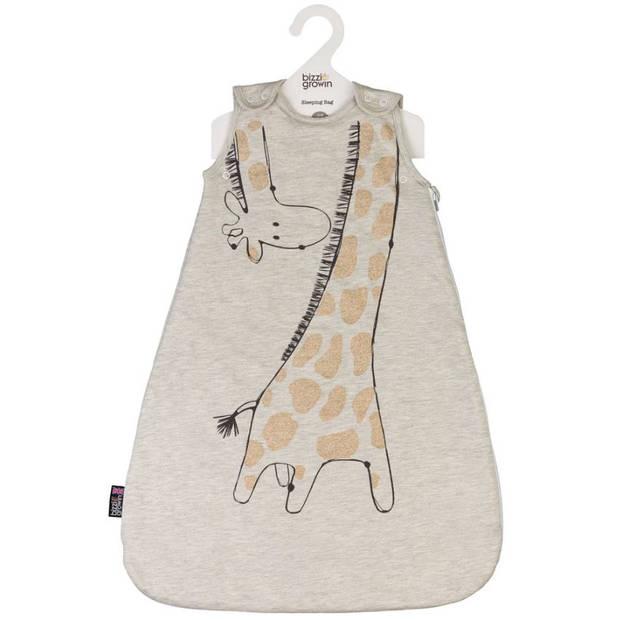 Bizzi Growin slaapzak giraffe katoen beige mt 6-18 maanden