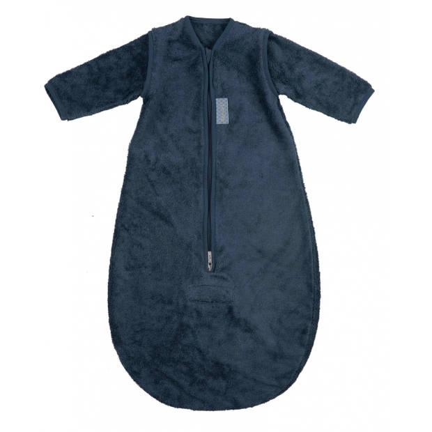 Pericles slaapzak met mouwen 70 cm katoen donkerblauw